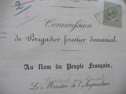Nomination Brigadier Forestier Domanial Pontier Lozère 1898 Agriculture Direction Des Forêts - Historical Documents