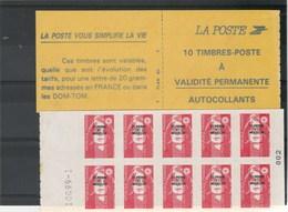 Saint Pierre Et Miquelon Yvert Carnet 590 ** Marianne Bicentenaire De Briat - Avec N° Feuillet - Cuadernillos/libretas