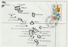 Carte Maximum FRANCE N°Yvert 2755 (CHRISTOPHE COLOMB) Obl Sp Pointe à Pitre (Ed Emp) - Cartas Máxima