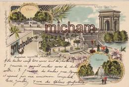 C P A 34  MONTPELLIER - PRECURSEUR  De 1898 Daté  Cachet Postal - Multivues - Tb Etat - Montpellier