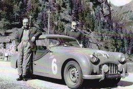 Triumph TR3  -  Rallye Liege-Rome-Liege - Pilotes:Dubuet/Morin - Carte Postale - Rallyes