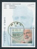 ÖSTERREICH Mi.Nr. Block 27  Carl Djerassi - Used - Blocks & Kleinbögen