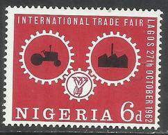 "NIGERIA 1962 INTERNATIONAL TRADE FAIR LAGOS ""Wheels Of Industry."" 6d MNH - Nigeria (1961-...)"