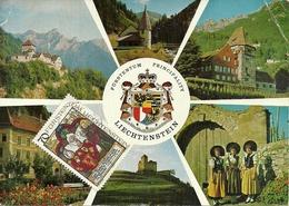 Liechtenstein, Views Schloss Vaduz, Kapelle Steg, Rotes Haus, Schloss Gutenberg, Regierung, Nationaltracht, Staatswappe - Liechtenstein