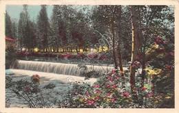 Cartolina Illustrata Piccole Cascate Fiume Alberi Fiori 1933 - Cartoline