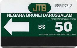 Brunei - JTB - Autelca - Definitive Card, (Without Line At Bottom Middle), 50B$, Used - Brunei