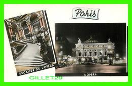 PARIS (75) - ESCALIER DE L'OPÉRA ET L'OPÉRA -  ÉDITIONS DU GLOBE - - Paris La Nuit
