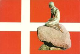 Denmark (Danimarca) Sirenetta E Bandiera Danese, Langeline, Petite Sirene - Danimarca