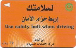 Saudi Arabia - Use Safety Belt - SAUDF - 25Riyals, 1998, Used - Arabia Saudita