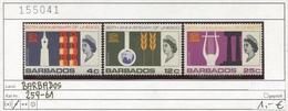 Barbados - 259-261 - * Falz/charn. - Barbados (1966-...)