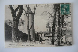 CPA 12 AVEYRON SALLES CURAN. Place De La Charmille. 1911. - Other Municipalities