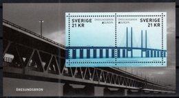 SWEDEN, 2018, MNH, EUROPA, BRIDGES, SHEETLET - 2018