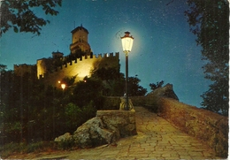 Repubblica Di San Marino, Scorcio Panoramico Notturno, Panoramic View By Night, Vue Panoramique La Nuit - San Marino