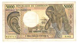 Cameroun , 5000 Fr.  VF. - Camerún
