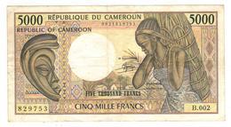 Cameroun , 5000 Fr.  VF. - Cameroon
