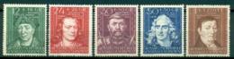 Poland. Cultural Figures Mi:DE-GO 120-124 ** - Occupation 1938-45