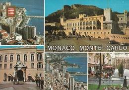 Principaute De Monaco, Montecarlo, Scorci Panoramici, Vue Panoramiques, Le Palais, La Garde Du Prince - Multi-vues, Vues Panoramiques