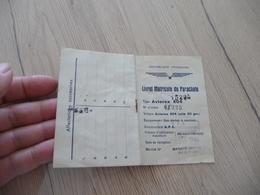 Livret Matricule Du  Parachute Type Aviorex - Documents