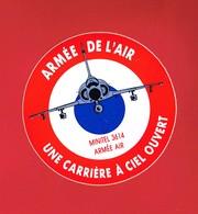 1 Autocollant ARMÉE DE L'AIR UNE CARRIERE A CIEL OUVERT - Autocollants