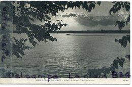 - Gorgeous Sunset - Lake Genova - ( WISCONSIN ), Non écrite, Splendide, épaisse, TBE, Scans.. . - Etats-Unis
