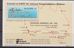 Nauru 1982 Anpx Stamp Ex. Brisbane Sheet MNH Shipments - Nauru