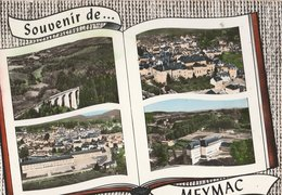 MEYMAC (19). Souvenir De ... Forme Livre, 4 Vues: Viaduc Des Farges, Vue Générale, Cours Complémentaire, Ecole Foestière - Altri Comuni