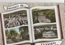ETREPAGNY (27). Souvenir De ... Forme Livre, 4 Vues: Eglise, Château De St-Martin, Lyons La Forêt, Institution Ste-Isabe - Francia