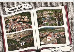 GAGNIERES (30). Souvenir De ... Forme Livre, 4 Vues: Centre Ville, Pont - Francia