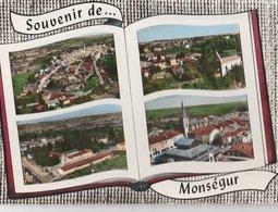MONSEGUR (33). Souvenir De ... Forme Livre, 4 Vues: Vue Générale, Dieulivol, Groupe Scolaire - Francia