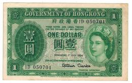 HONG KONG , 1 Dollar 1954, XF. - Hong Kong