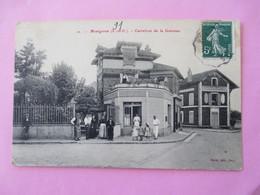 MONTGERON ( LA GARENNE Pavillon De Bellevue ) Carrefour De La Garenne Avec Une Belle Animation - Voyagé En 1909 - Montgeron