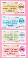Money Coupon (Novčani Bon) - Lot 4 Pcs - UNC, Seria M 1992., Bosnia And Herzegovina - Bosnia Y Herzegovina