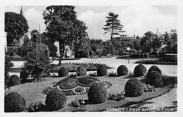 Cartolina Abbazia Parco Davanti La Chiesa Anni '30 - Cartoline