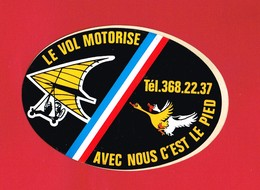 1 Autocollant LE VOL MOTORISÉ U L M - Autocollants