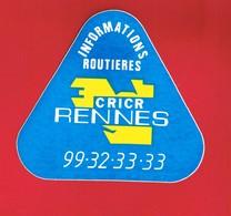 1 Autocollant INFORMATIONS ROUTIÈRES CRICR RENNES - Autocollants