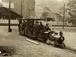 MINIATURE TRAIN ST EARLS COURT EXHIBITION  RAILWAY CHEMIN DE FER 21* 16 CM Fonds Victor FORBIN 1864-1947 - Trenes