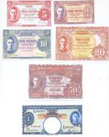 Malaya 8 Note Set 1941 COPY - Malaysia
