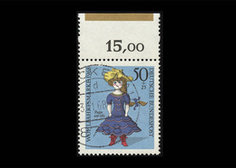 BRD 1968, Michel-Nr. 574, Wohlfahrt 1968, Bogenrand Oben Mit Farbbalken, Gestempelt, Siehe Foto - BRD