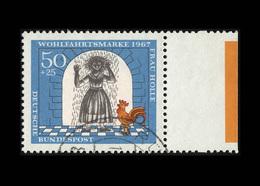 BRD 1967, Michel-Nr. 541, Wohlfahrt 1967, Bogenrand Rechts Mit Farbbalken, Gestempelt, - BRD