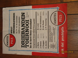 """AMSTERDAM - Affiche Du Tournoi De Billard Au Grand Hôtel Krasnapolski - Publicité : Bières """" AMSTEL Pils """"  (jm) - Affiches"""