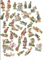 Lot De 66 Découpis (Petits Personnages, Fleurs Et Autres) + Une Dizaine En Cadeau - Other