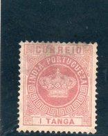 INDE 1882 SANS GOMME I° TYPE - Inde Portugaise