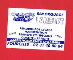 1 Autocollant Remorquage LAMBERT à FOURCHES 14 - Autocollants