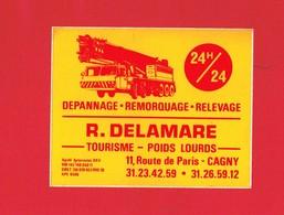 1 Autocollant Dépannage Remorquage R. DELAMARRE 11 Route De Paris à CAGNY 14 - Autocollants
