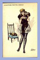 CPA - Illustration Grivoise - 7. Les Frileuses - Chauffage Par Poil Mobile - Illustrators & Photographers