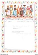 TELEGRAMM TELEGRAMME TELEGRAMMA SUISSE Illustration Costume Traditionnel Avec Enveloppe Obl TELEGRAPH ZÜRICH 13 X 1956 - Telegraph