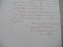 LAS Autographe Maréchal Clarke Duc De Feltre Ministre Guerre Paris 09/01/1813 Préparation Express Des Troupes - Documents