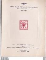 """E63 Aérophilatélie Vol Par Ballon """"Belgica"""" Conférence Aéronautique Internationale 1951 Tirage : 400 Ex. ! Pas Courant - Commemorative Labels"""