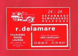 1 Autocollant Dépannage Remorquage R. DELAMARRE  Route De Caumont à CARPIQUET  14 - Autocollants