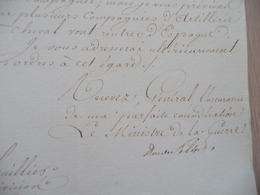 LAS Autographe Maréchal Clarke Duc De Feltre Ministre Guerre Paris 08/01/1813 Guerre D'Espagne Renforts - Documents